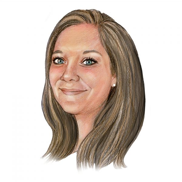 Handgetekend portret van Valerie