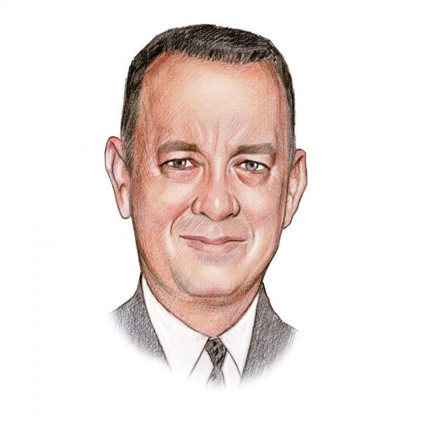 Handgetekend portret van Tom Hanks