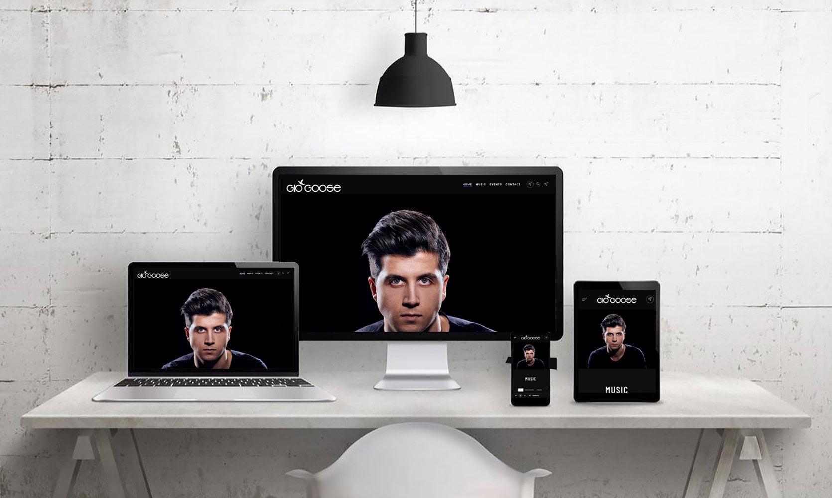 Webdesign Mockup GioGoose