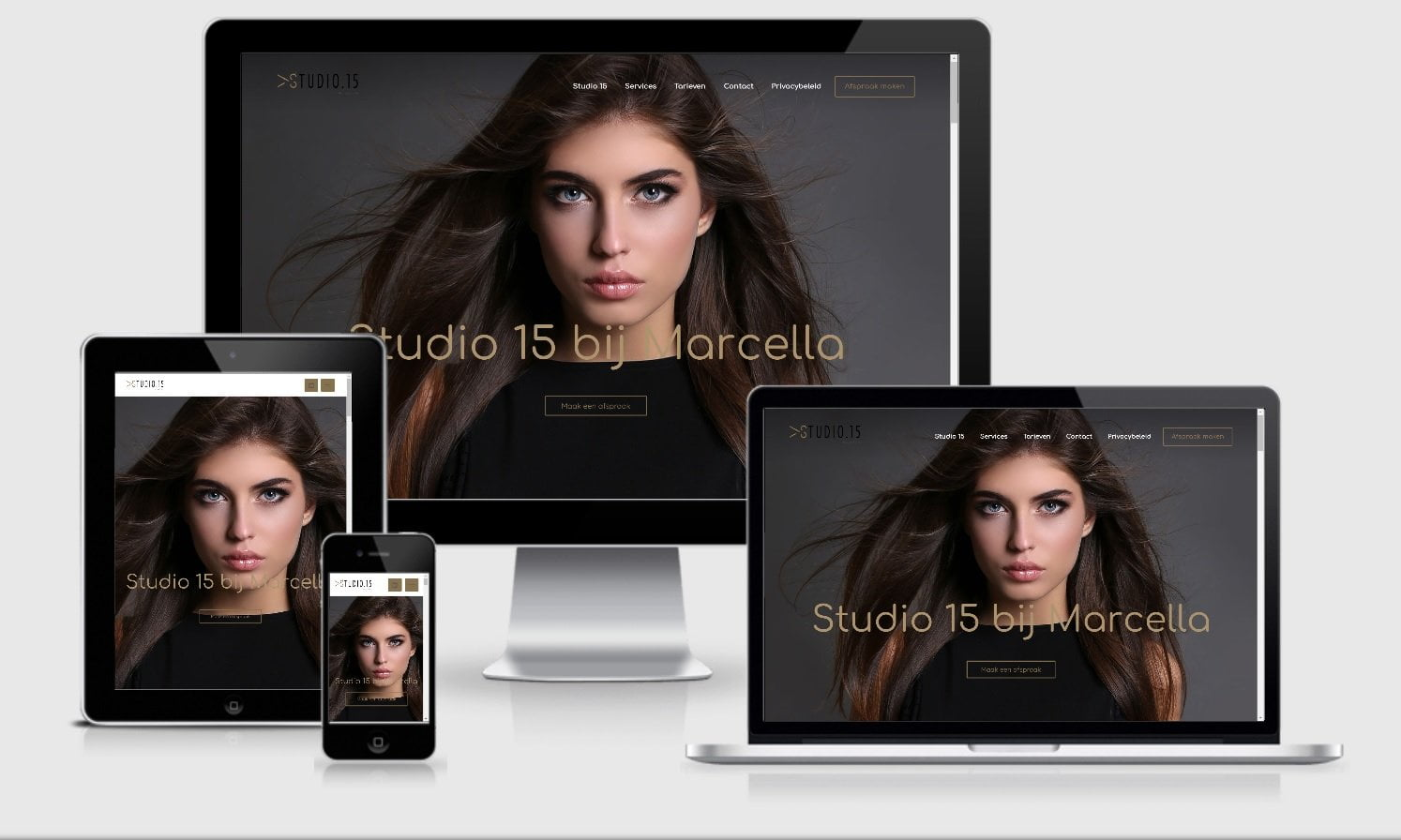 Webdesign Mockup Studio 15 bij Marcella